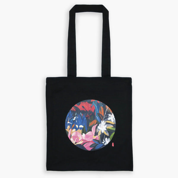 Art Print Cotton Tote Bag - London GARDEN 01