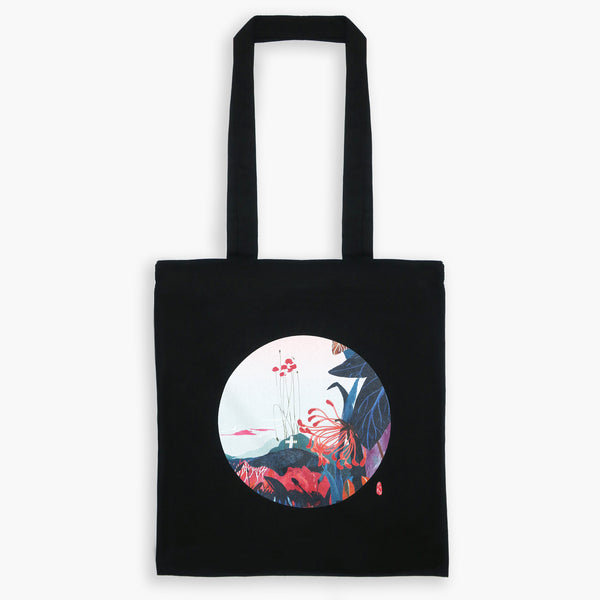 Art Print Cotton Tote Bag - London GARDEN 02