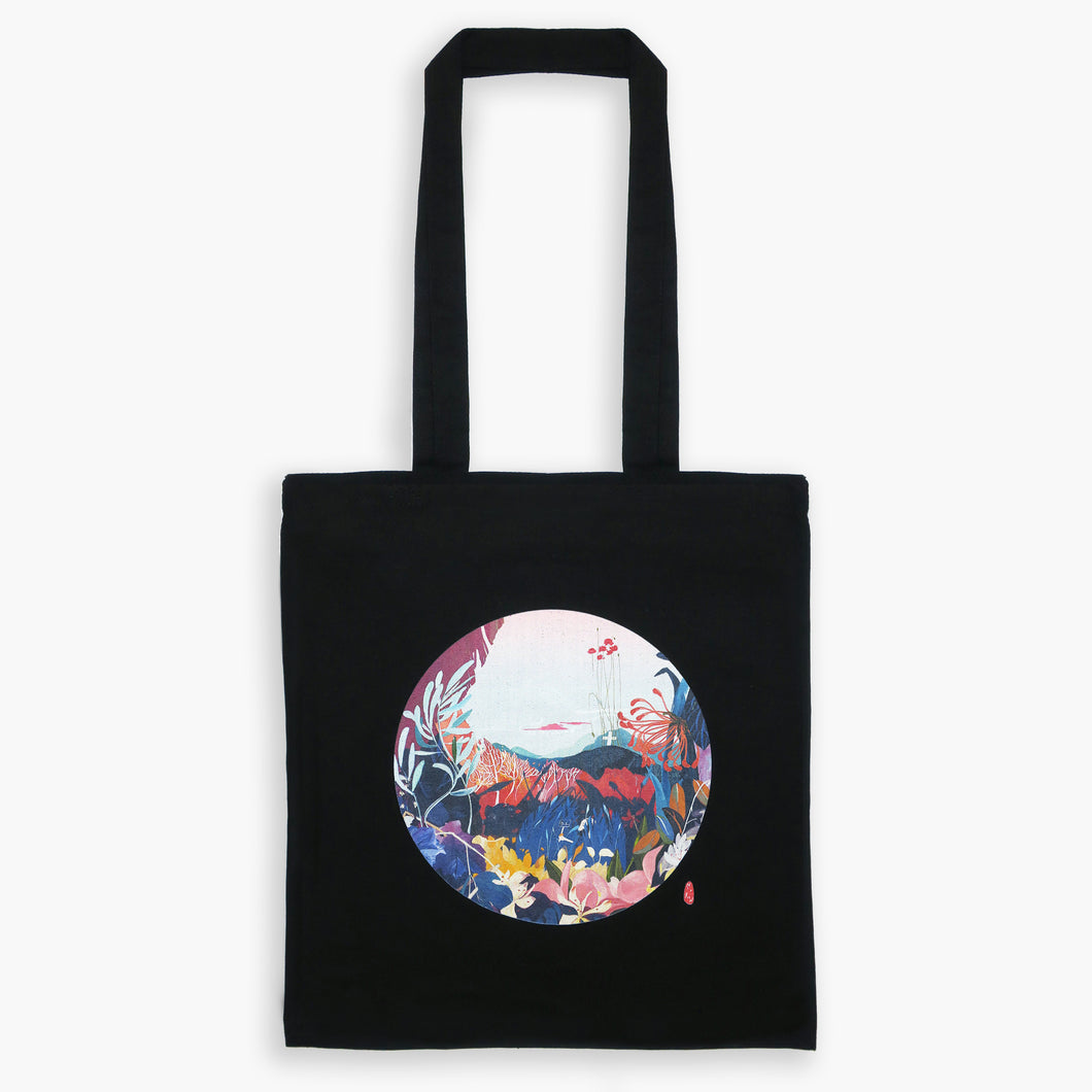 Art Print Cotton Tote Bag - London GARDEN 03