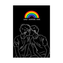 LGBT Gay Pride Art Print - Love Happens Here - Print - Lavender Home London