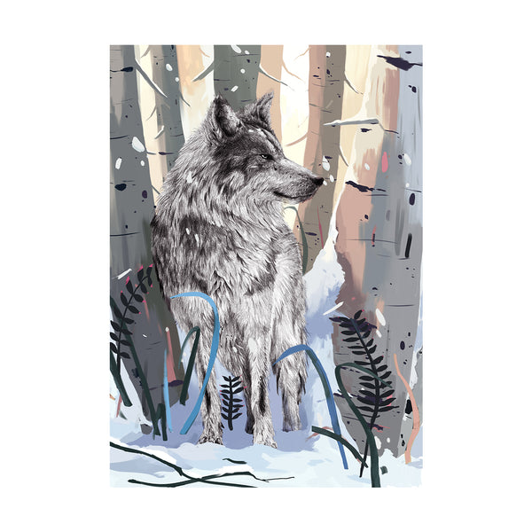 Endangered Animal Collection - Grey Wolf Art Print