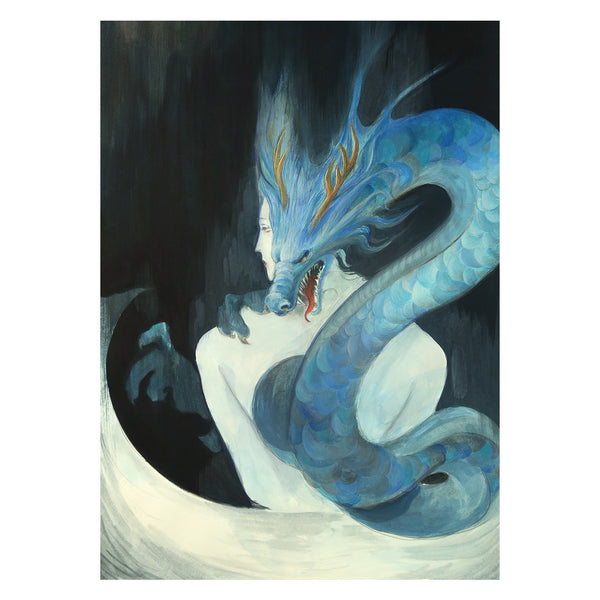 traditional Chinese fairy tales poster - Blue Dragon