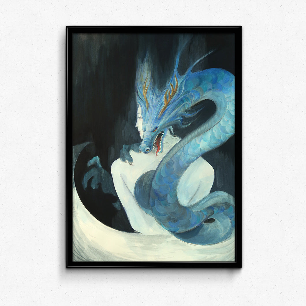 Guardian Spirits Collection Original Art Print - Blue Dragon