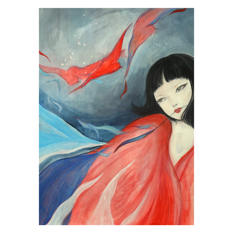 Guardian Spirits Collection Original Art Print - Jing Wei
