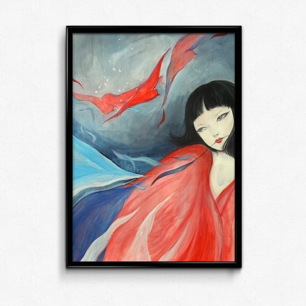 traditional chinese fairy tales poster - Jing Wei