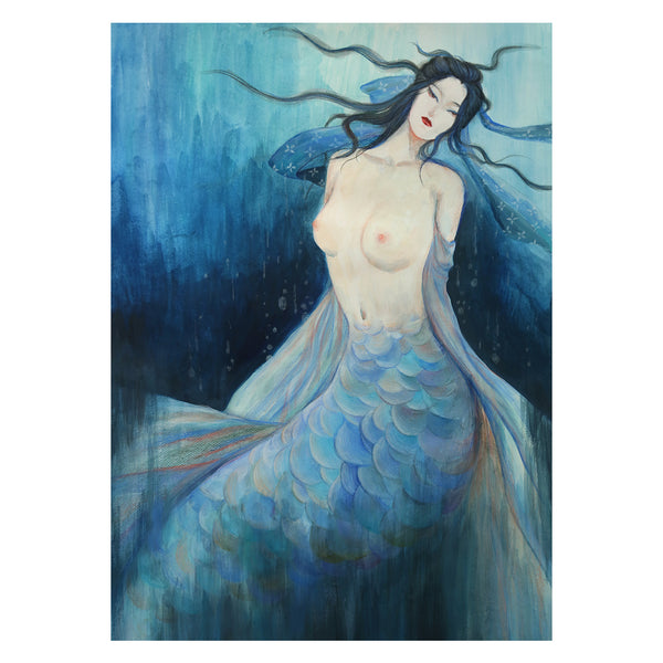 traditional chinese fairy tales poster - Mermaid