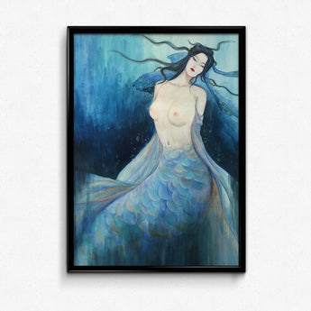 Guardian Spirits Collection Original Art Print - Mermaid
