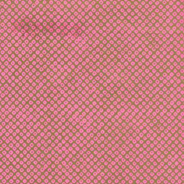 Yuzen Washi Wrapping Paper - Deer's Spots Pink Gold