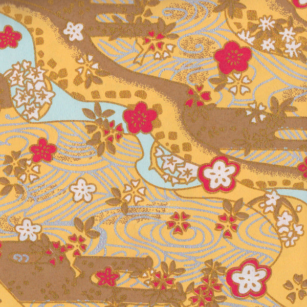 Yuzen Washi Wrapping Paper - Flower Water Garden