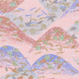 Yuzen Washi Wrapping Paper HZ-035 - Maple & Ginkgo Leaves Pastel