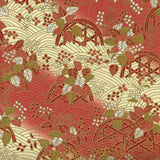 Traditional Japanese washi paper with beautiful pattern. Can be used as wrapping paper or origami works.