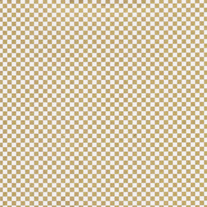 Yuzen Washi Wrapping Paper HZ-051 - Gold Checkerboard (S) - washi paper - Lavender Home London