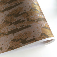 Yuzen Washi Wrapping Paper HZ-071 - Black Sea Waves Garden - washi paper - Lavender Home London