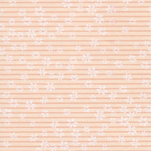 Yuzen Washi Wrapping Paper HZ-120 - Cherry Blossom Orange Stripes - washi paper - Lavender Home London