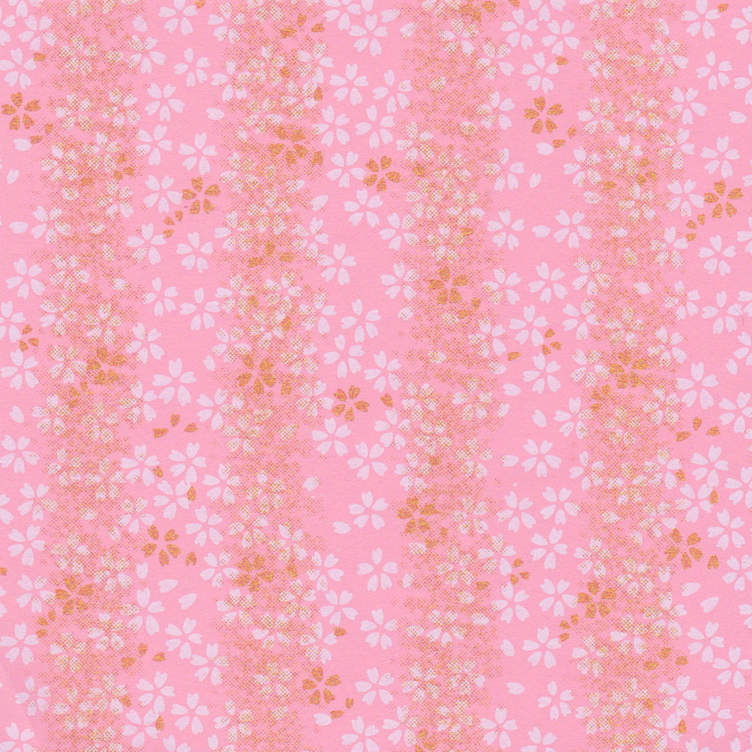 Yuzen Washi Wrapping Paper HZ-128 - Cherry Blossom Pink