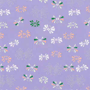 Yuzen Washi Wrapping Paper HZ-173 - Ribbons Lavender - washi paper - Lavender Home London