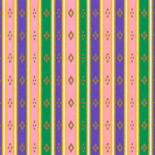 Yuzen Washi Wrapping Paper HZ-204 - Stripes of Hinamatsuri (Pastel) - washi paper - Lavender Home London