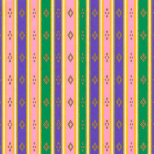 Yuzen Washi Wrapping Paper HZ-204 - Stripes of Hinamatsuri (Pastel)