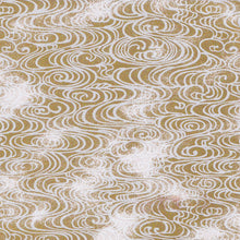Yuzen Washi Wrapping Paper HZ-225 - Flowing Water Gold - washi paper - Lavender Home London