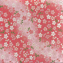 Pack of 20 Sheets 14x14cm Yuzen Washi Origami Paper HZ-230 - Small Cherry Blossom Pink Gradation - washi paper - Lavender Home London