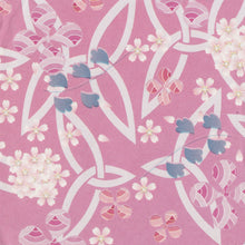 Yuzen Washi Wrapping Paper HZ-244 - Cherry Blossom & Clovers Pink