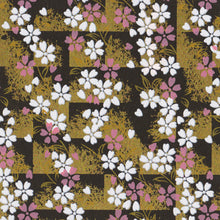 Yuzen Washi Wrapping Paper - Cherry Blossom Black Shade