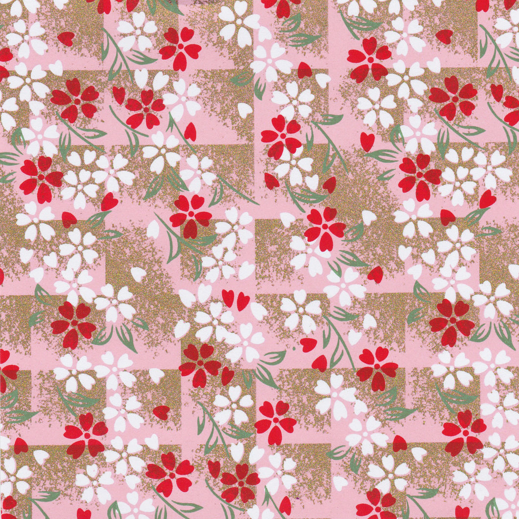 Yuzen Washi Wrapping Paper HZ-267 - Cherry Blossom Pink Shade