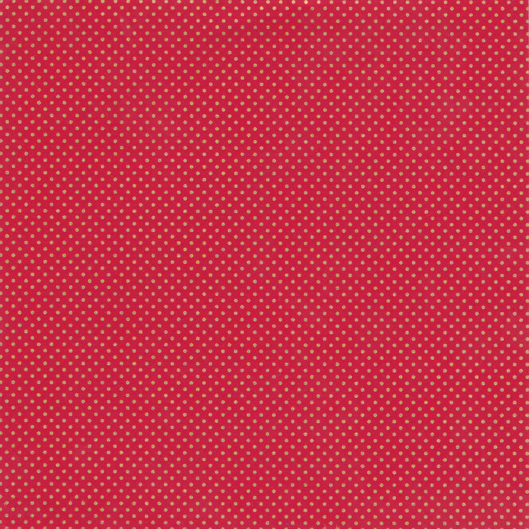 Yuzen Washi Wrapping Paper HZ-281 - Small Polka Dot Burgundy