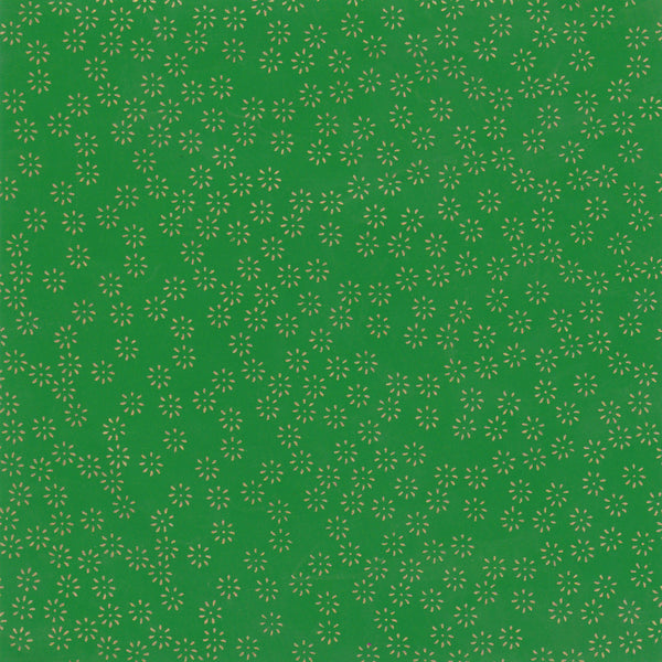 Yuzen Washi Wrapping Paper HZ-288 - Small Chrysanthemum Green