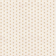 Yuzen Washi Wrapping Paper - Gold Hemp Leaf (S)