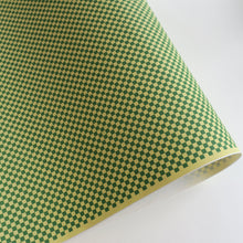 Yuzen Washi Wrapping Paper HZ-316 - Green & Yellow Checkerboard - washi paper - Lavender Home London