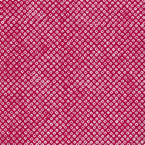Yuzen Washi Wrapping Paper - Deer's Spots Raspberry