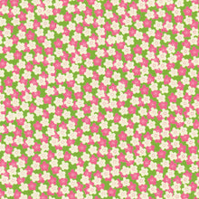 Yuzen Washi Wrapping Paper HZ-336 - Small Plum Flowers Matcha