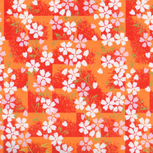 Yuzen Washi Wrapping Paper HZ-342 - Cherry Blossom Orange Shade - washi paper - Lavender Home London