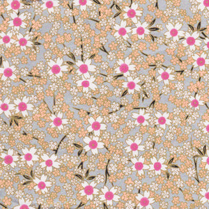 Yuzen Washi Wrapping Paper HZ-344 - Pink Silver Cherry Blossom