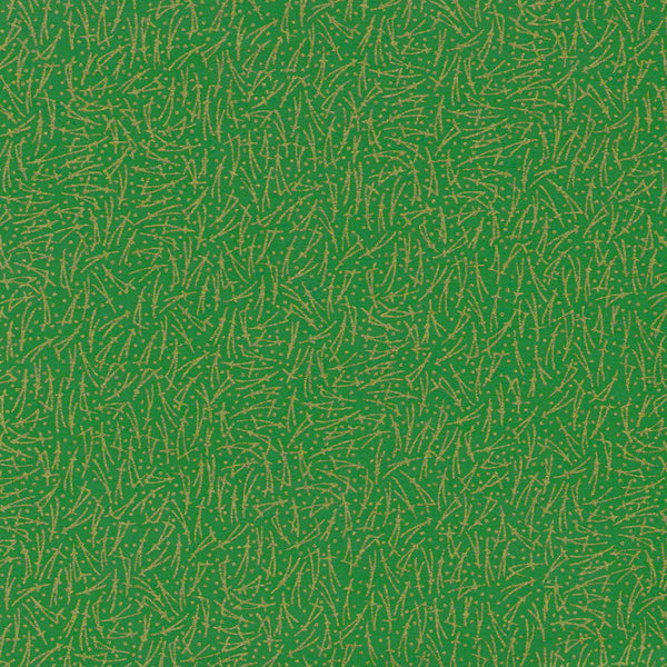 Yuzen Washi Wrapping Paper HZ-376 - Spreading Pine Needles Green