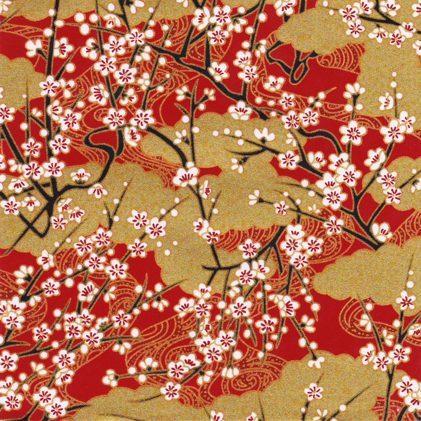 ORIENTAL HOUSE Peel Off Stickers Card Making Cherry Blossom Tree Gold or Silver