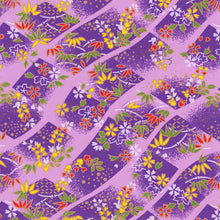 Yuzen Washi Wrapping Paper HZ-443 - Cherry Blossom & Weight Chain Purple - washi paper - Lavender Home London