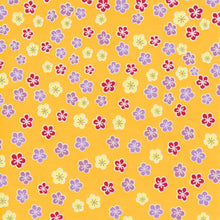 Pack of 20 Sheets 14x14cm Yuzen Washi Origami Paper HZ-498 - Plum Flower Vitamin Yellow - washi paper - Lavender Home London