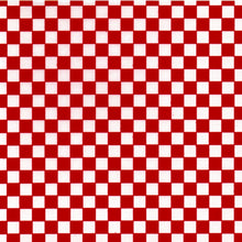 Pack of 20 Sheets 14x14cm Yuzen Washi Origami Paper HZ-511 - Red & White Checkerboard - washi paper - Lavender Home London