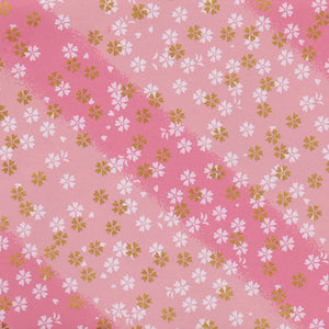 Yuzen Washi Wrapping Paper HZ-514 - Small Cherry Blossom Pink Shades - washi paper - Lavender Home London