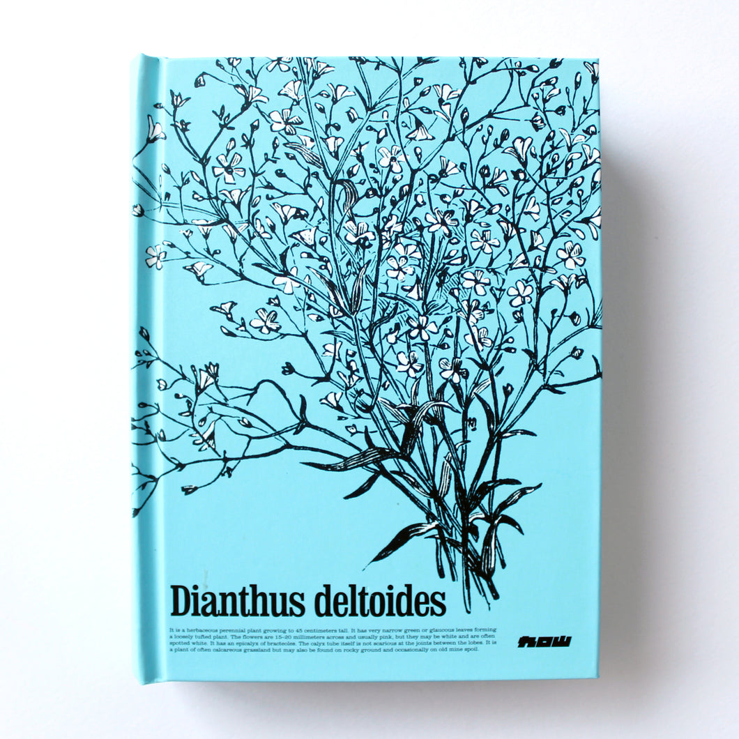 Classic Hardcover Notebook - Dianthus Deltoides - Brown Paper