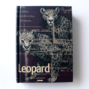 Classic Hardcover Notebook - Leopard - Brown Paper - Stationery - Lavender Home London