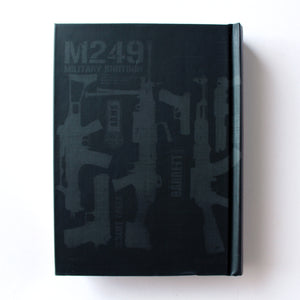Classic Hardcover Notebook - M249 Military Shotgun - Brown Paper - Stationery - Lavender Home London