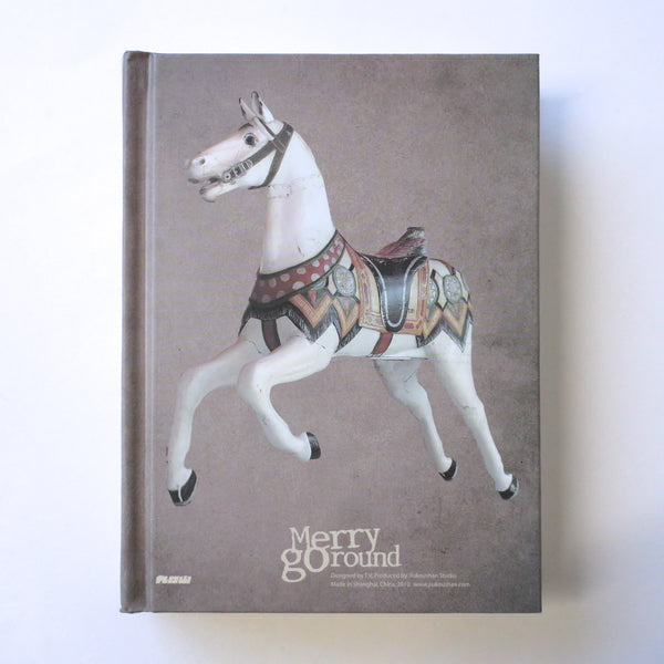 Classic Hardcover Notebook - Merry Go Round Horse - Stationery - Lavender Home London