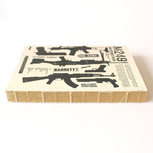 Soft Binding Brown Paper Notebook - M249 Squad Automatic Weapon - Stationery - Lavender Home London