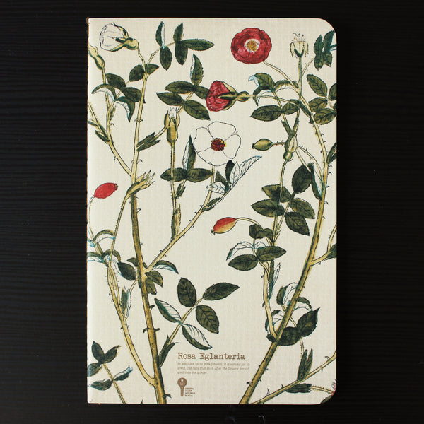 Thin Herb Edition Notebook - Rosa Eglanteriaa / Rubiginosa