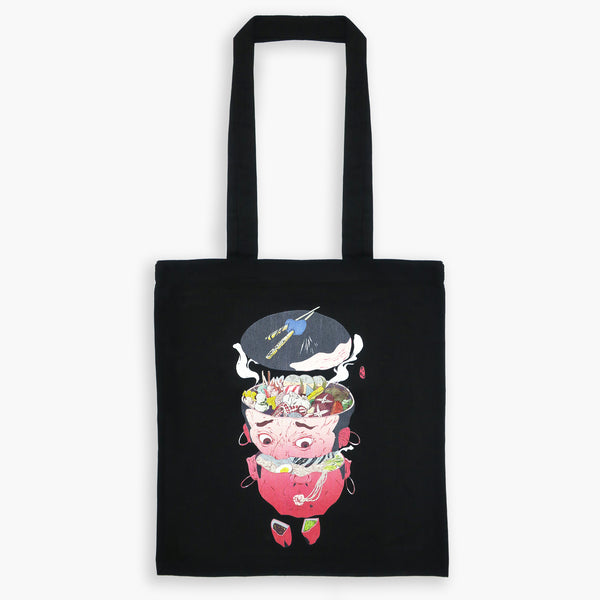 Art Print Cotton Tote Bag Hungry