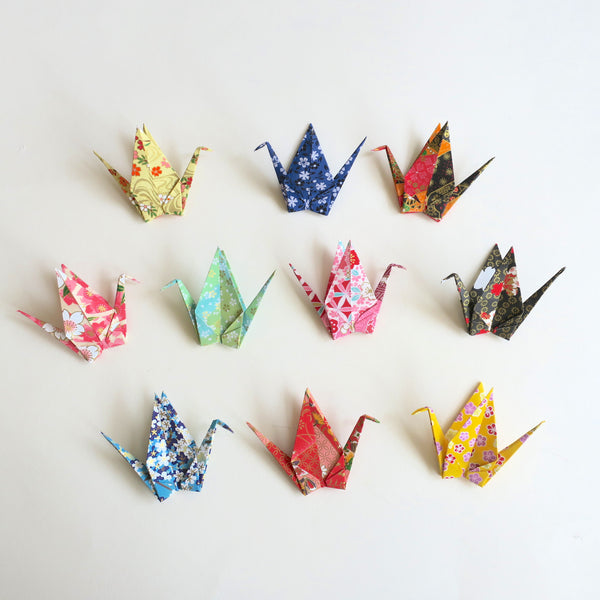 Pack of 10 & 50 & 100 Origami Cranes - Origami Decorations - Lavender Home London