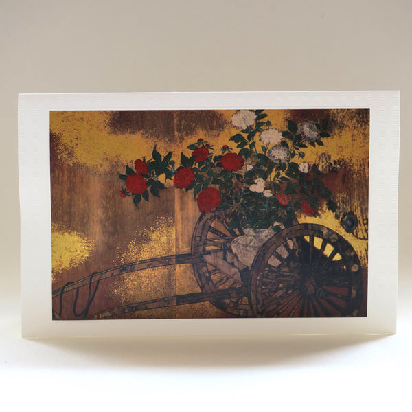 Japanese Art Greeting Card - Flowers in Abandoned Cart - Cards - Lavender Home London